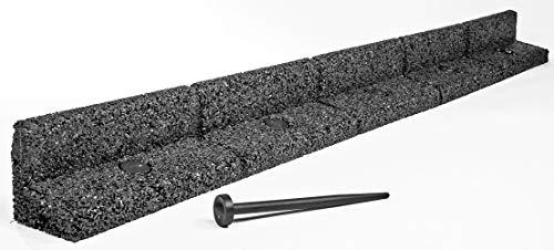 EcoShape FlexiBorder - das Flexible Rasenkantensystem (2 x 1 Meter, Grau)