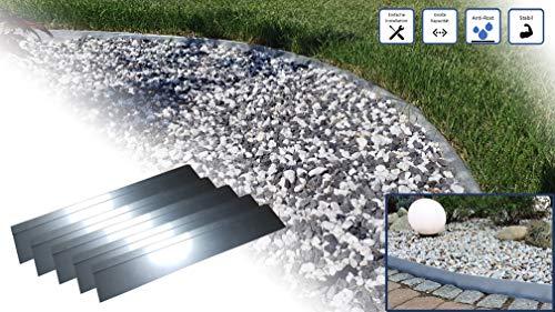 Rasenkante 5m 10m 15m 20m 30m 40m 50m 100x18cm Div - Rasenkante 5m 10m 15m 20m 30m 40m 50m 100x18cm Div. Größen | Gebördelt | Aluminium-Zink Legierung | Beeteinfaassung Metall, Rasenkantenblech, Beetumrandung, Rasenabgerenzung, Gartenabgrenzung (5)