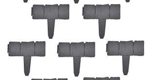 [casa.pro] 60er Set Palisade Grau mit Steinoptik Länge 1500cm Beetumrandung Rasenkante